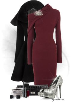 """""""Red Red Wine"""" by cynthia335 on Polyvore (Not the shoes)"""
