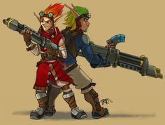 Jak and Daxter humanized