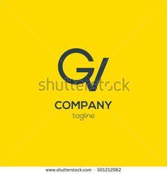 G & V  Letter logo design vector
