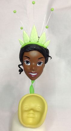 TIANA.face of the princess frog.silicone mold./molde de silicona,cara de la princesa Ranita.