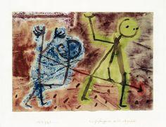 Paul Klee 'Ein Gefangener wird abgeführt' (A Prisoner being Taken Away [my own translation g.s.]) 1939