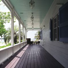 Haint blue porch ceiling- need.