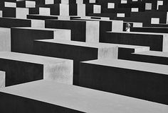 A striking image of the Holocaust memorial in Berlin by Ian Howard, Ash, Kent.