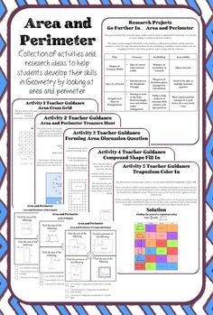A pack of resources designed to help students to develop their skills in Geometry through looking at area and perimeter. Five activities covering areas of rectangles, triangles, parallelograms and trapezia. Area and perimeter of compound shapes. Aimed at students aged 11 - 12. Keywords included.