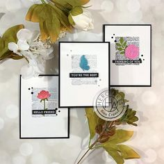 January My Monthly Hero Countdown: Idea + Giveaway - Hero Arts Hero Arts Cards, Friendship Cards, Card Kit, You're Awesome, Art Blog, Note Cards, Giveaway, Birthday Cards, Place Card Holders
