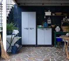 KIS TITAN   Coppia Armadi in plastica, armadi da esterno Made in Italy      Waterproof plastic cabinet for garage, garden or balcony #madeinitaly #design #furniture #offertaspeciale #specialoffer