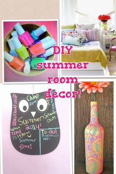 Diy summer room decor! This is the updated daily board that shows you all trendy DIYS that you can do for your room!