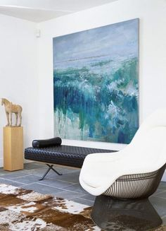Hand-painted Abstract Landscape Oil Painting on Canvas from CZ Art Design. @CeilneZiangArt