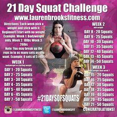 LAUREN BROOKS FITNESS Blog: 21 Day Squat Challenge - #21DaysOfSquats