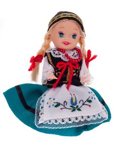 Lalka ludowa - kaszubski strój regionalny - 11 cm