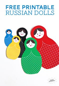 Download Free Printable Russian Dolls for the Sochi Winter Olympics at PagingSupermom.com