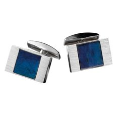 Kalevala Jewelry – The Elegant cufflinks made of silver give the final elegant touch to your formal attire. The cufflinks are adorned with Finnish spectrolite. Combine with the silver Elegant tiepin. Designer Cufflinks, Jewelry Design, Men's Jewelry, Modern Jewelry, Timeless Design, Handicraft, Jewelry Collection, Pure Products, Elegant