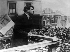 Michael Collins addressing a crowd in Cork