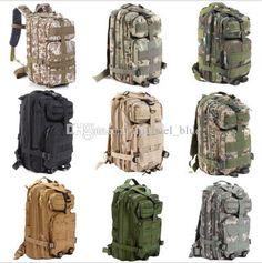 30L Big Outdoor Sport Tactical Camping Hiking Military Backpack Rucksacks Bag S3