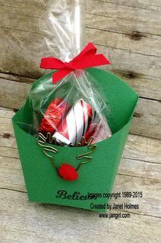 Jan Girl: Stampin' Up Christmas Fry Boxes