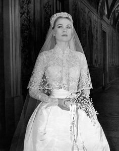 Grace Kelly's iconic wedding dress: http://www.stylemepretty.com/2015/07/09/100-of-the-most-iconic-wedding-dresses-ever/