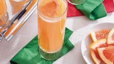 Citrus Mimosas- red grapefruit juice, orange juice, simple syrup, sparkling white wine or champagne