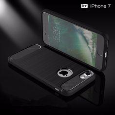 Rugged Brushed TPU Anti Knock Phone Case For iPhone 7 Plus Case 7Plus Cases Cover iPhon7 Coque Fundas Caso de telefone #Affiliate