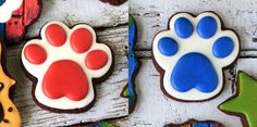 All the cookie decorating tutorials, tips, recipes and color help you need to make easy and fun decorated sugar cookies! Cat Cookies, Cut Out Cookies, Cupcake Cookies, Sugar Cookies, Sugar Cookie Royal Icing, Cookie Frosting, Graduation Cookies, Paw Patrol Cake, Cookie Tutorials