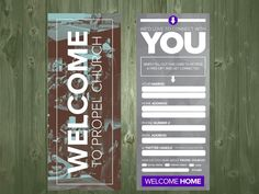 Church connection card - 3.5 x 9. Pay What You Can