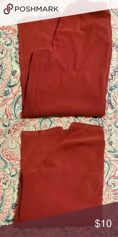 Cranberry Color Slacks These are more of a cranberry color than the photos show. They are not red.  Like new condition. No fraying at hem, no stains or tears. These would make a great addition to your fall wardrobe. Islander Pants