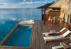 Conrad Bora Bora Nui offers 5 star luxury rooms and suites. Enjoy your stay at this upscale Bora Bora hotel. France Trampoline, Backyard Trampoline, Spa Design, Trampolines, Caribbean Beach Resort, Beach Resorts, Inclusive Resorts, Pool Spa, Bora Bora Bungalow