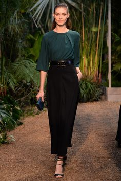 Hermès Spring 2014 Ready-to-Wear Collection, Look 2. Simple, elegant, clean. Hurray for long black skirts!