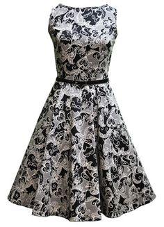 Tea dress with gorgeous full skirt.