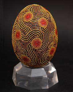 Eggs Decco by Grace.  Many beautiful beaded eggs on this site.