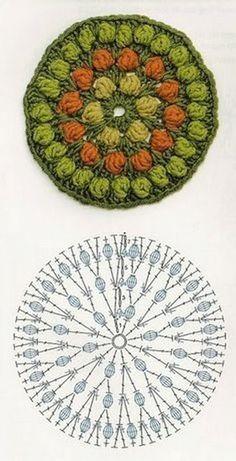Ideas For Crochet Coasters Pattern Flower Tutorials Motif Mandala Crochet, Crochet Coaster Pattern, Crochet Circles, Crochet Diagram, Crochet Chart, Crochet Doilies, Crochet Flowers, Crochet Stitches, Crochet Patterns