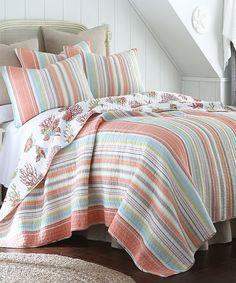 Loving this Coral Brighton Bedding Set on #zulily! #zulilyfinds