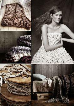 Grey and White, a pre-winter moodboard Knitting Stiches, Arm Knitting, Big Knits, Chunky Knits, Textiles, Big Yarn, Yarn Bombing, Africa Craft, Crochet Art