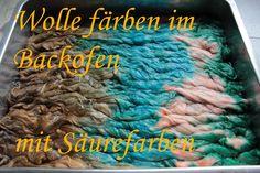 Wolle Färben im Backofen mit Säurefarben