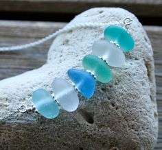 Sea Glass Jewelry Sea Shades Necklace by OceanCharmsSeaGlass, $37.00