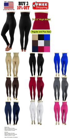 84d24ca479f34 Pantyhose and Tights 11525: Women Slim High Waist Tummy Control Compression  Body Shaper Fleece Leggings