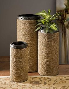 IMAX CKI Brunnel Planters - Set of 3