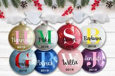 Gift for your sister from the kids Personalized name ornament 2019 Cool custom aunt Christmas ornament with ugly sweater