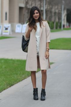 """""""Transitioning from winter to spring can be a little tricky, so I love pairing shorts and rompers with boots to make the big change a little easier."""" - Alexandra Vela, Sophomore, Texas A & M International University   - Seventeen.com"""