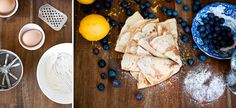 Crepês mit Heidelbeeren und Puderzucker | Nur 5 Zutaten Blog