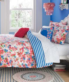 Another great find on #zulily! Red Rosie Posie Comforter Set by Teen Vogue #zulilyfinds