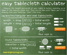 Never order the wrong size tablecloth again! We show you how and what to measure to get the perfect fit!