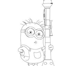 Despicable ME 2 Online Coloring Pages Are Available On Hellokids The Astonished GRU And Lovely Minions Coming Back With Me