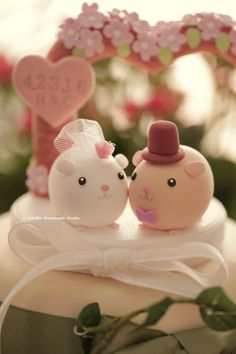 guinea pigs Wedding Cake Topper by kikuike on Etsy