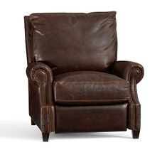 James Leather Recliner | Pottery Barn $1799
