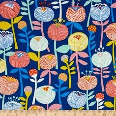 Erin McMorris Noe Bela Marin from @fabricdotcom  Designed by Erin McMorris for Free Spirit Fabrics, this cotton print from the Noe collection is perfect for quilting, apparel, and home decor accents. Colors include blue, mint, yellow, orange, and pink.