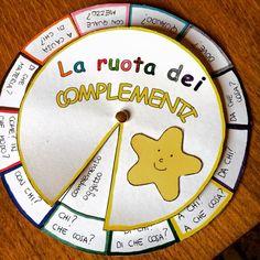 """""""La ruota dei complementi"""" ecco come insegnare in modo grafico i complementi! La…"""