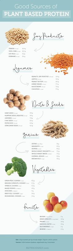 Good sources of plant-based #vegan #protein for you!
