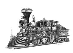 "An antique train, built entirely of antiques. Based on the ""William Crooks"", the first steam locomotive to cross the Mississippi.  All Aboard."