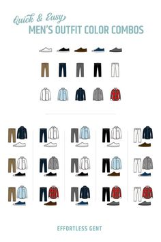 Color Combinations For Clothes, Color Combos, Find Color, Matching Outfits, Clothing Items, Studying, Fashion Forward, Infographic, Cool Outfits