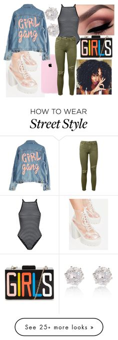 """""""Girl Gang (Creative and Colorful )"""" by fashionxx1 on Polyvore featuring River Island, High Heels Suicide, New Look and Current/Elliott"""